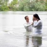 Водное крещение нашей сестры!